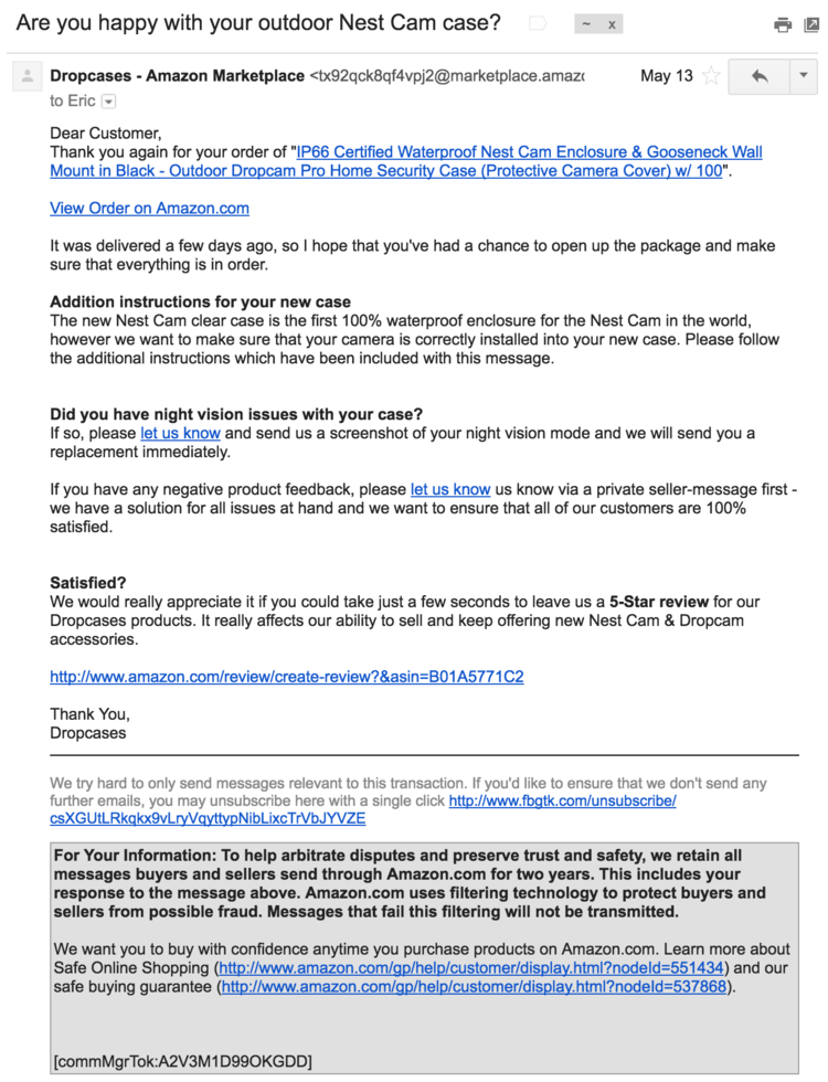 how to stop spam emails from amazon third party sellers eric cheng