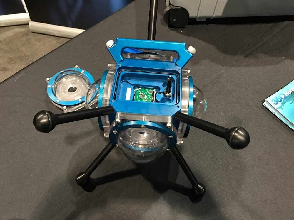 360RIZE Abyss housing for 6 x GoPro cameras (with Bullet360 sync)