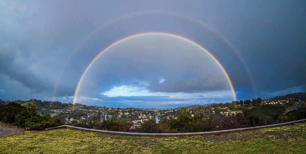 Double rainbow shot with Sony a6500 and Rokinon 8mm fisheye lens