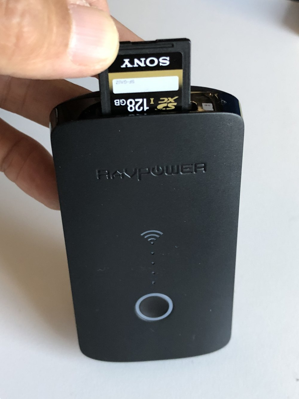 The  RAVPower FileHub Plus  serves media from any SD card