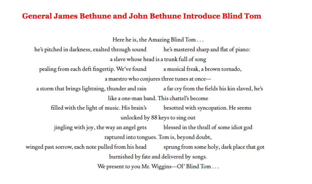 blind tom thomas greene wiggins bethune