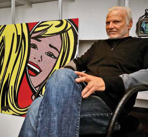 "Geoffrey Diner, with Roy Lichtenstein's, ""Girl in a Mirror"", 1965, Porcelain Enamel on Steel"