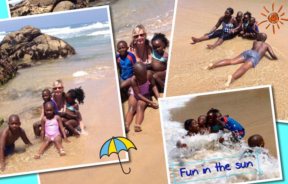 Een dagje naar het strand, wat een pret, zand, zee, zon wat wil een kind nog meer...........oh ja een happy meal op de terugweg 😉