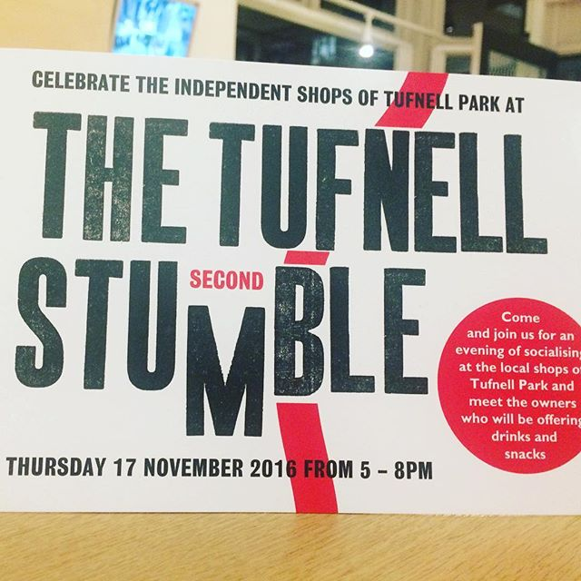 It's nearly here! The countdown has begun. It's the 2nd tufnell stumble. #tufnellstumble #fortessrd #shopping