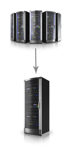 Server virtualisation consolidation