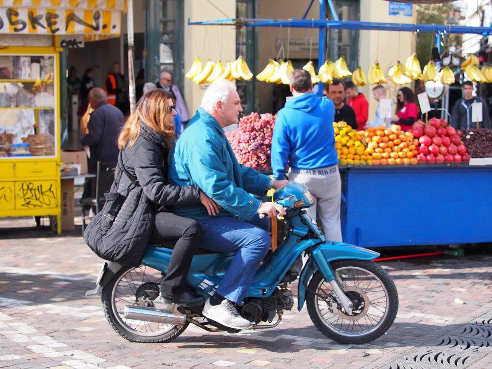 Mad Max: Fruit Market. Monastiraki Square, Athens, November 2017.