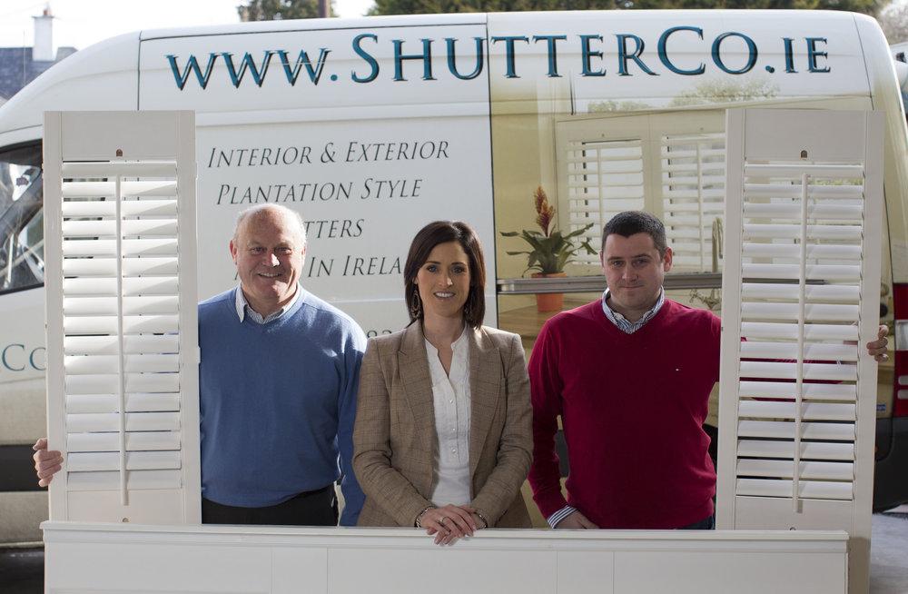 The ShutterCo Family. (L-R: Brendan, Sarah & Barry Rice)