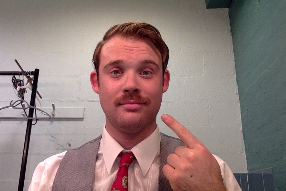 Tristan's moustache in The Great Gatsby- a slight cheat on the Movember rules!