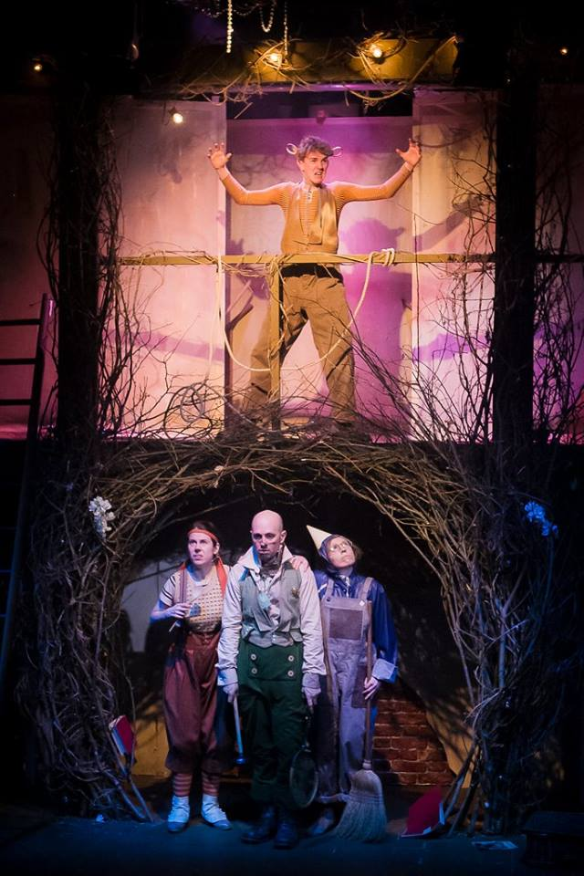Simon Grey, Stephanie Lane, James Burton and Sophie Greenham in The Wind in the Willows