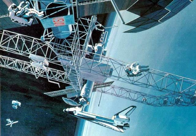 Nasa's Space Station Freedom — Gavin Rothery