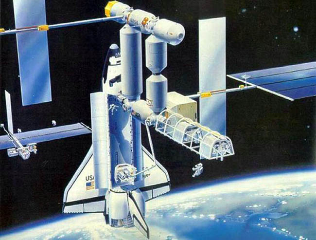 Nasa's Space Station Freedom — Gavin Rothery