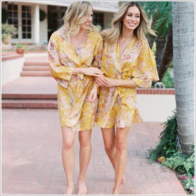 Kimono Style Knee Length Robe