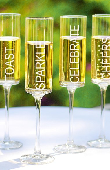 Cathy's Concepts Celebrate! Contemporary Champagne Flutes