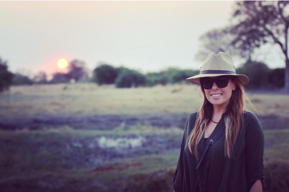 Sundowner after a land safari in Botswana, Africa.