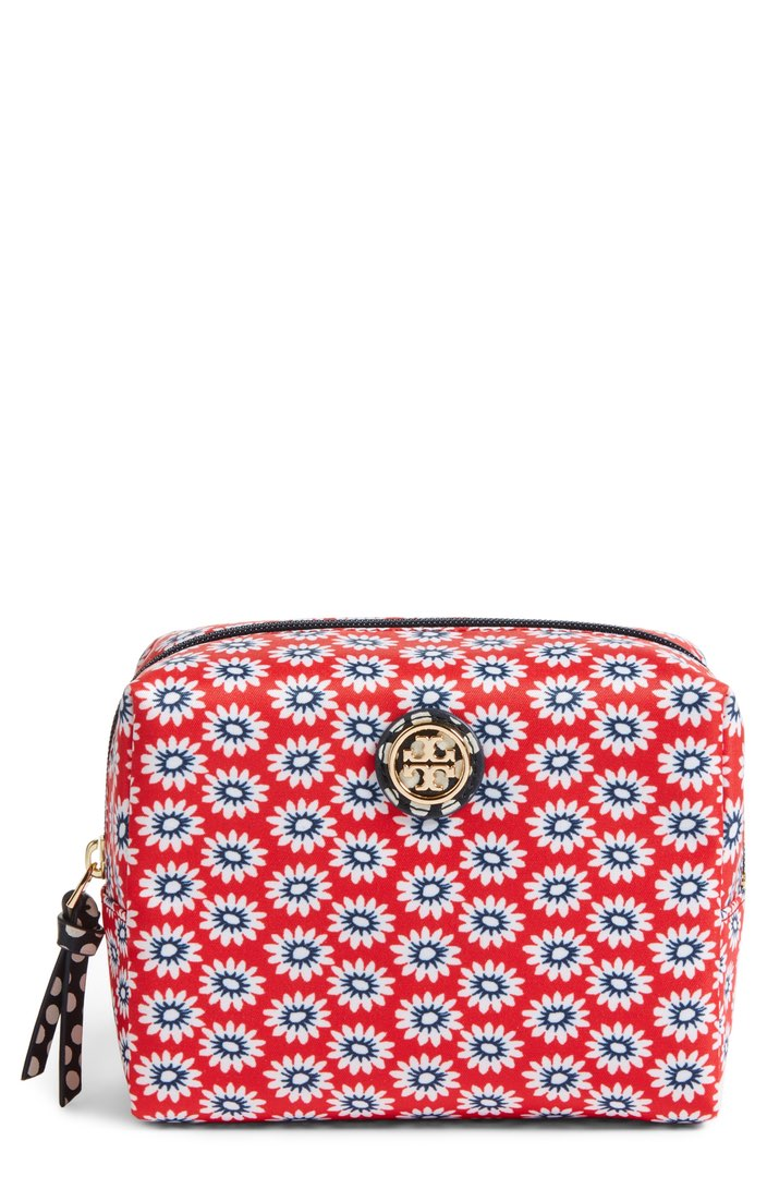 Tory Burch Brigitte Nylon Cosmetics Case