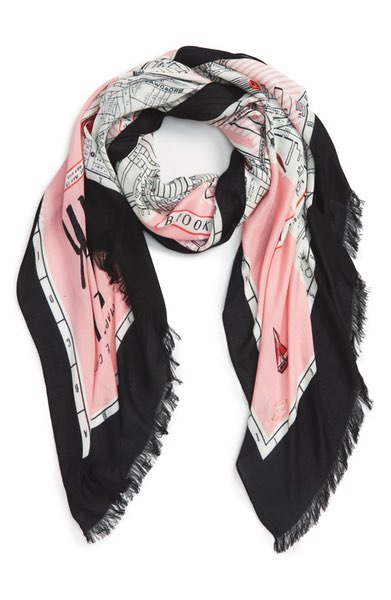 Kate Spade New York Map Print Scarf