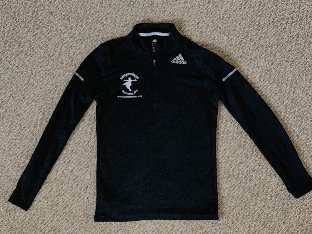 Black Adidas Pullover (dryfit material) with Sampradaya Logo