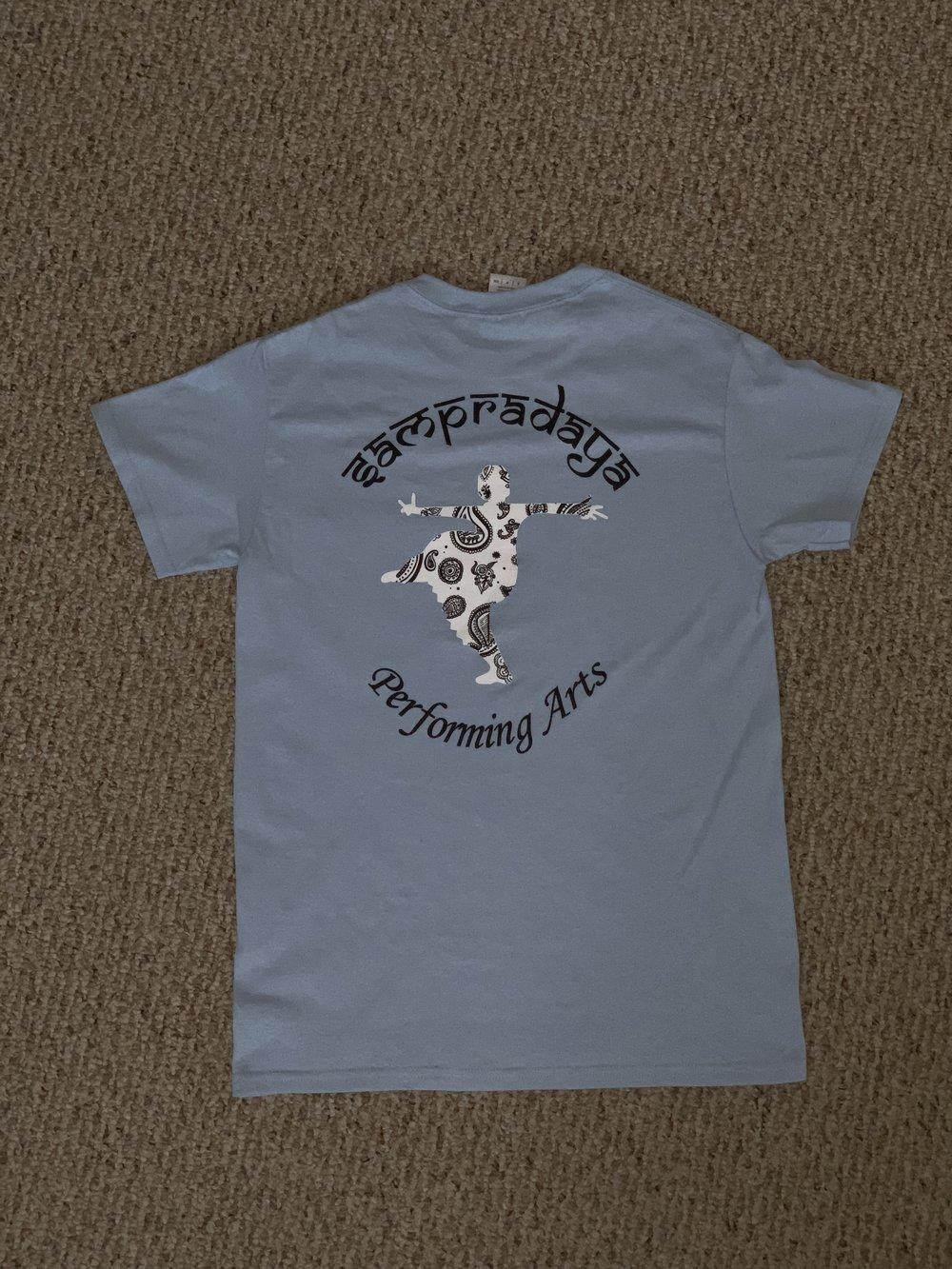 Sampradaya 20 years Shirt (Light Blue color) — BACK