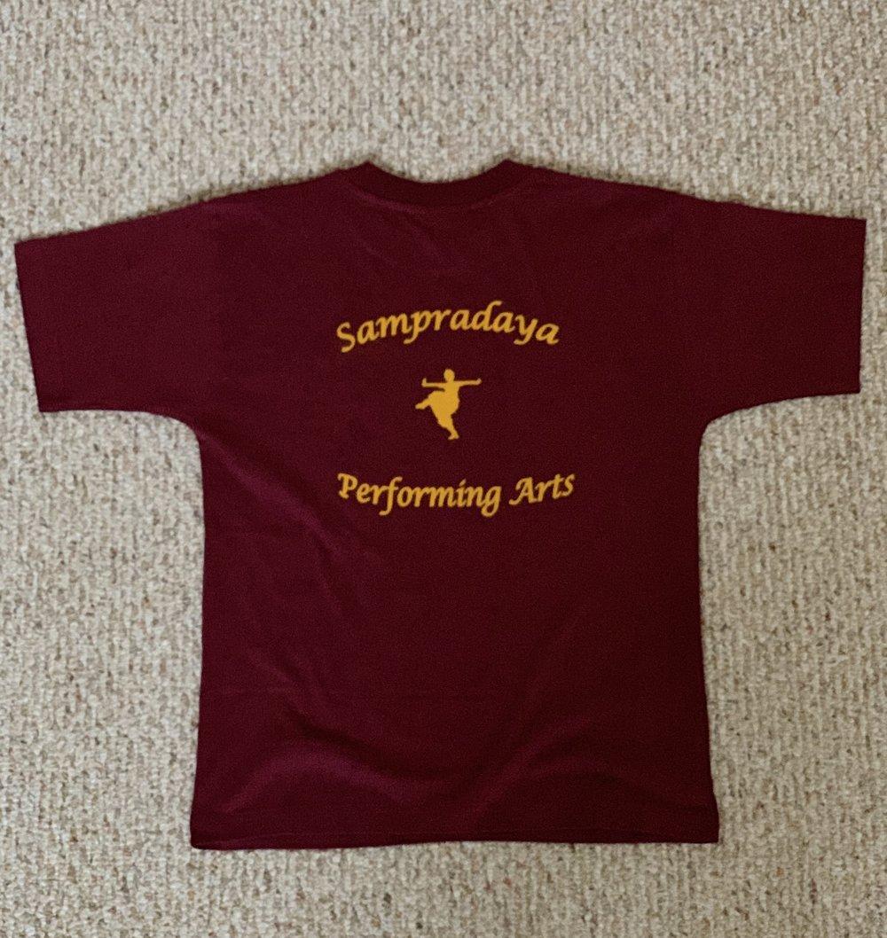 Sampradaya Shirt (Maroon and Orange) — BACK