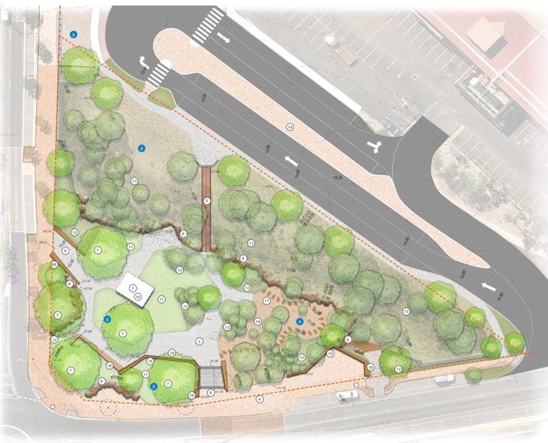 The Welcome Park project is part of the City's ongoing work to activate and enhance the amenity of the city centre.
