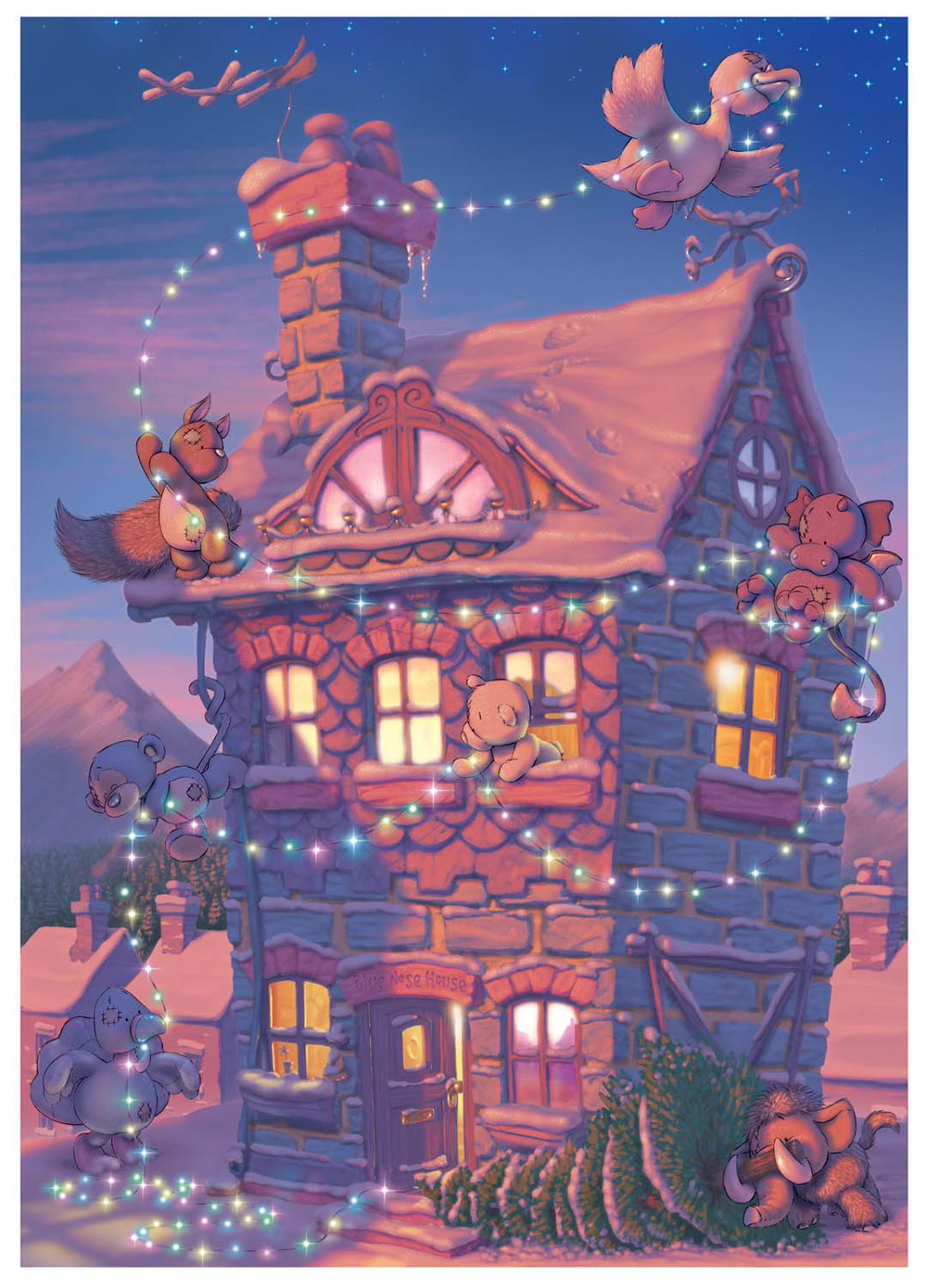 Illustration for use on an advent calendar (click to enlarge)