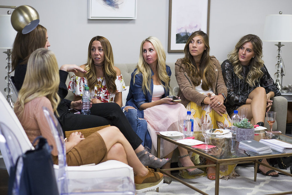 blogger event carly and sloan the mother chic penny parlor pumpin and rose rosa smucker lauren priori l priori