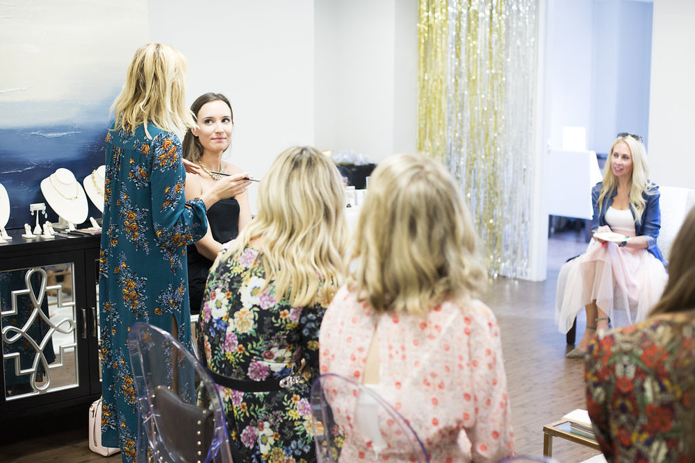 shimmer and spice makeup tutorial blogger event