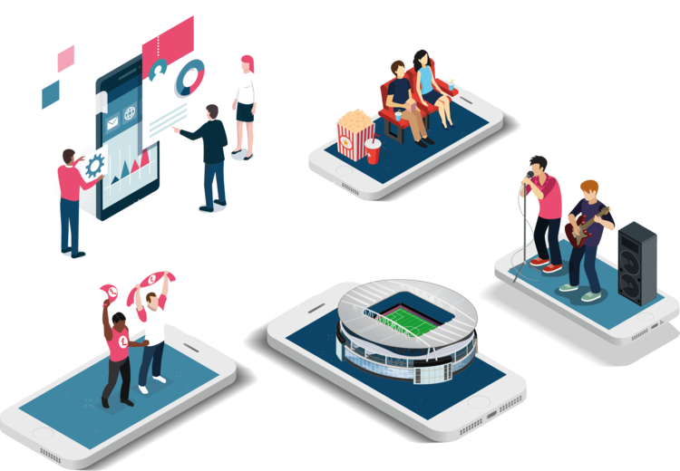 Venue REDEMPTION Solutions - - Tixserve powered smartphone Venue App- App includes live ticket search feature, for onsite query handling- Tixserve also works with existing venue access infrastructure