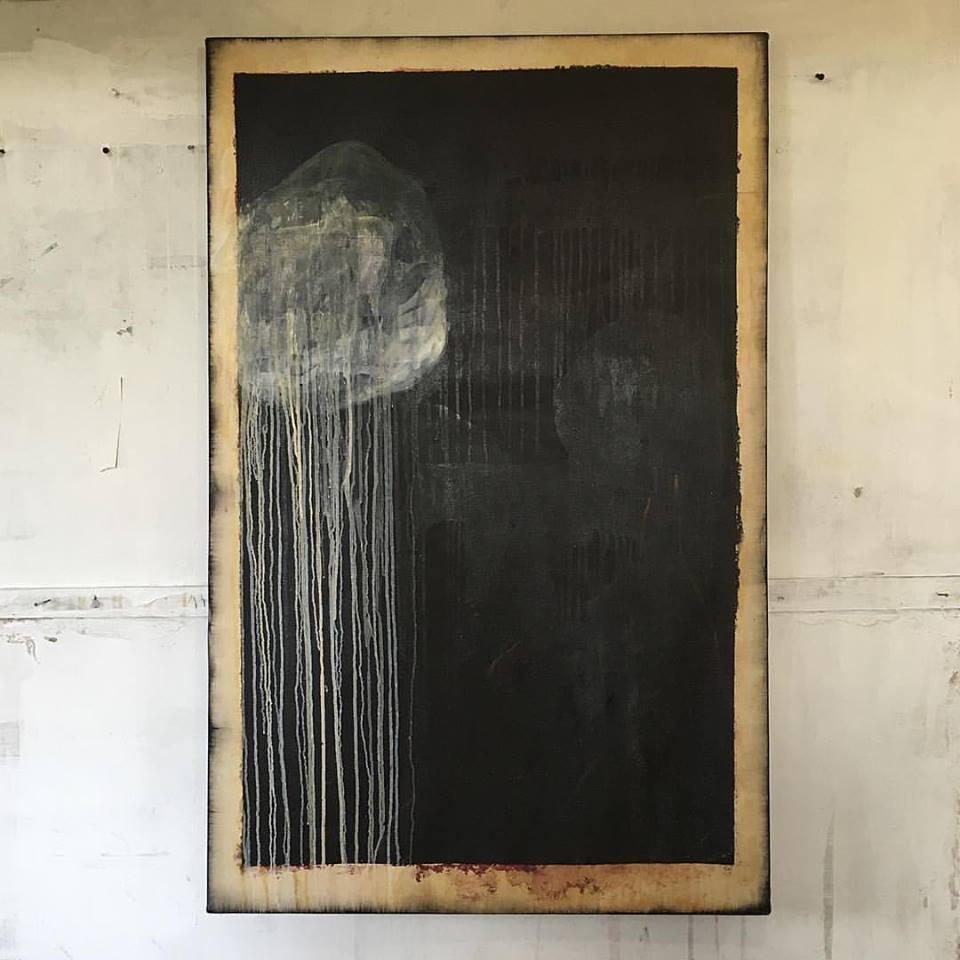 """Bleeding Stone"" |2010 - 2016 | Oil on Canvas | 75 x 110 cm"