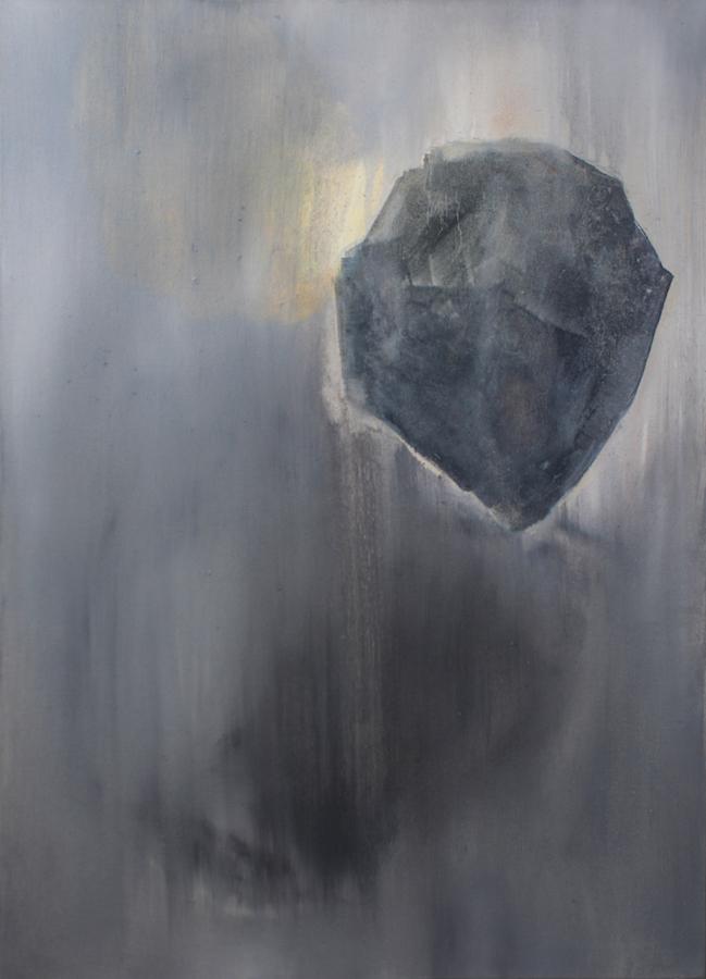 Bleeding Stone  (vi) 2015 Oil on Canvas 40 x 59.5 cm