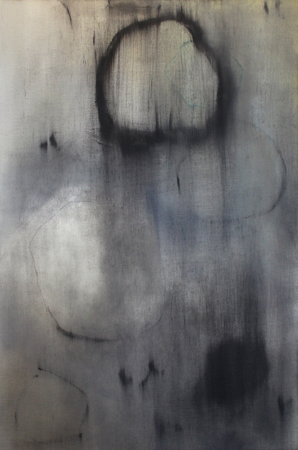 Bleeding Stone (xiii) 2015 Oil and Charcoal on Canvas 45 x 70 cm