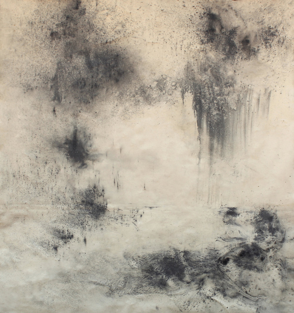Landwritten (i) 2015 Graphite on Canvas 160 x 180 cm
