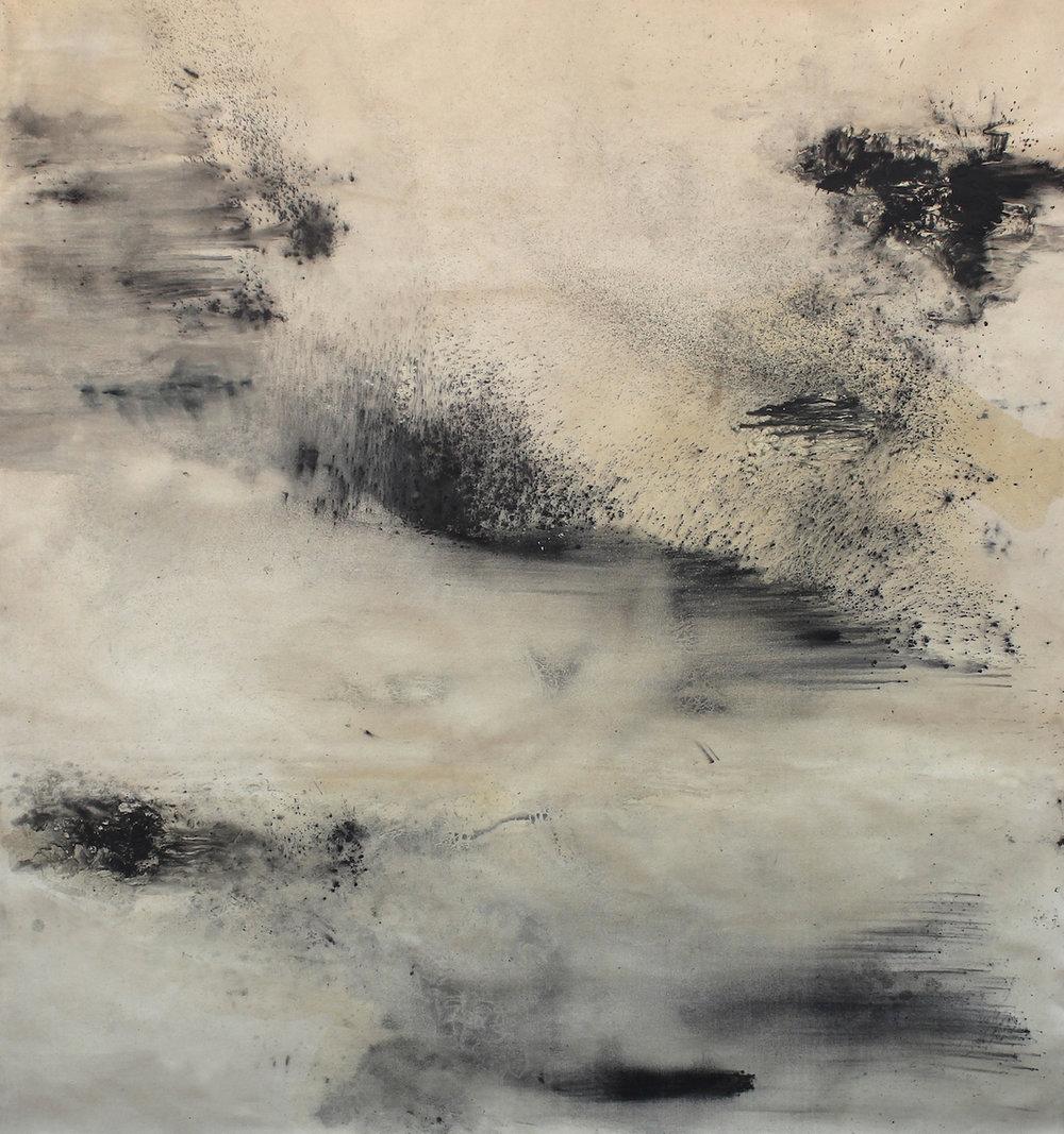 Landwritten  (iii) 2015 Graphite on Canvas 160 x 180 cm