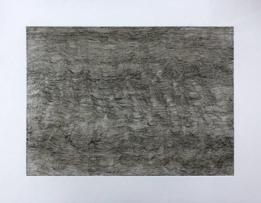 The Age of the Earth we Walk on (1/3) 2013 Acid Etching on Fabriano 45 x 35.5 cm