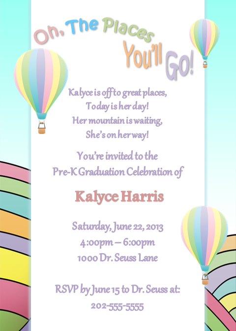 Dr Seuss Oh The Places Youll Go Grad Party DC Wedding Planner