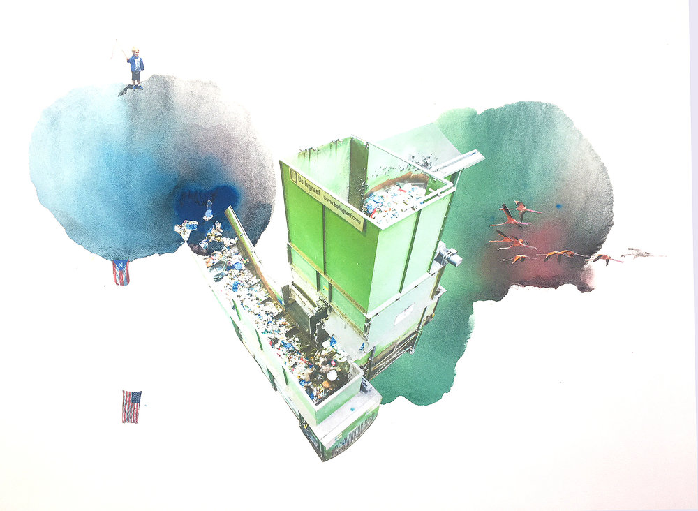 """Sims Recycling, 22 X 30"""""""