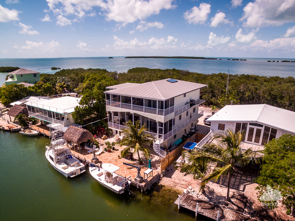 Islamorada canal front real estate aerial photography