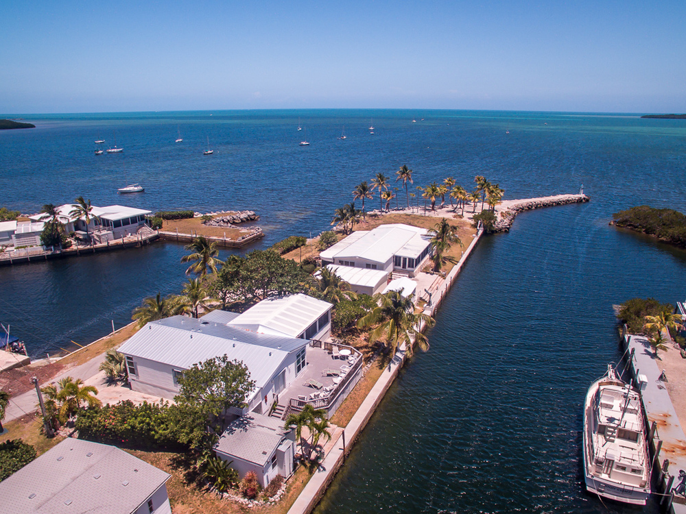 Florida Keys waterfront real estate aerial drone photography
