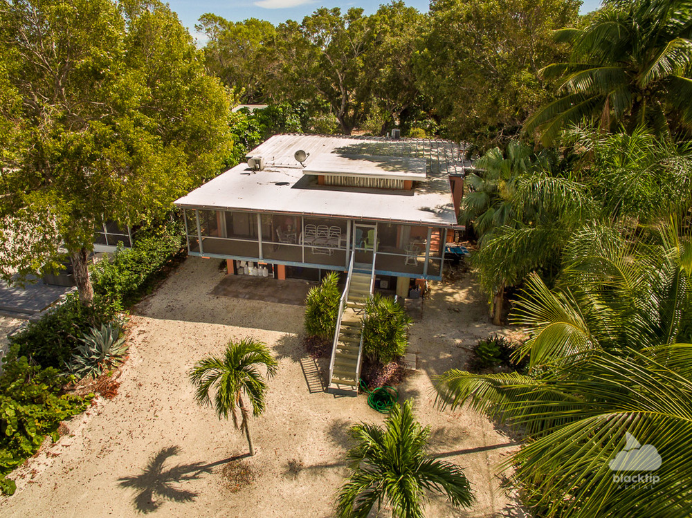Key Largo waterfront real estate drone photography