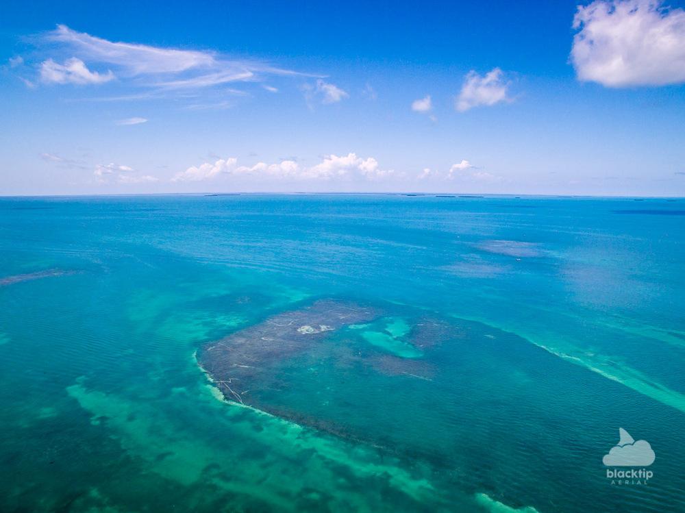 Florida Keys flats aerial photography