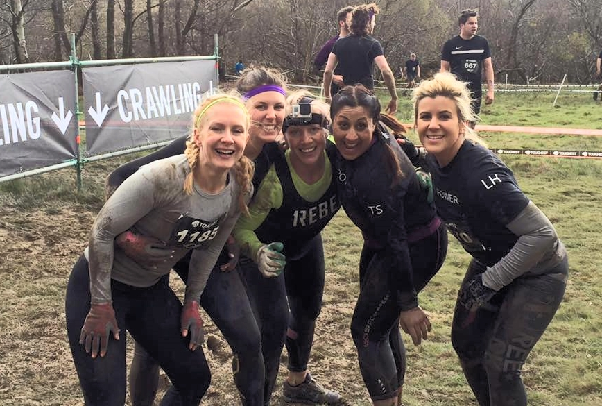 Toral with Melissa, Zoe, Alice and Laura at Toughest.