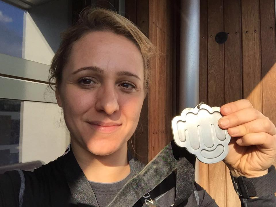 Annalisa shows off her metal (literally) after Toughest