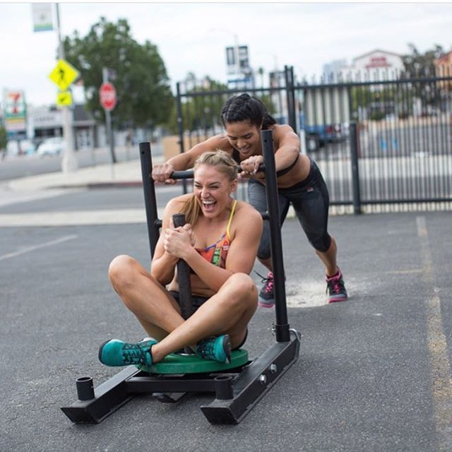 We love this shot from @reebokwomen! Pick a friend and go workout with them over the next few days! Training doesn't have to be all sweat and tears...can be sweat and laughter too!