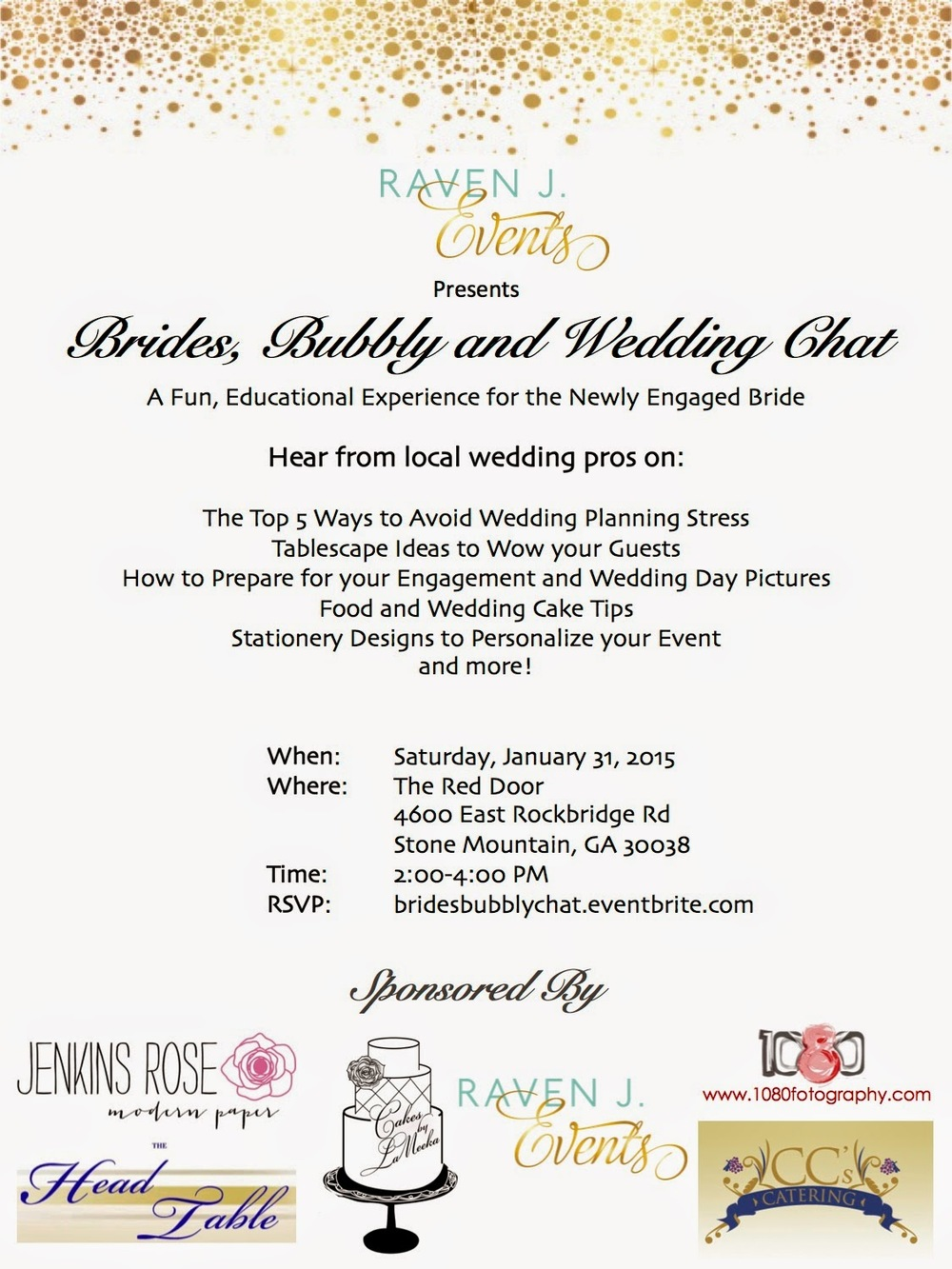 brides bubbly and wedding chat raven j events