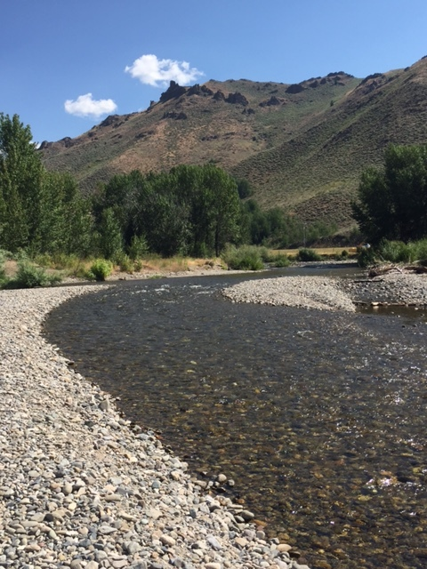 The same river runs through it, but it sure doesn't look like our favorite Idaho fishing hole