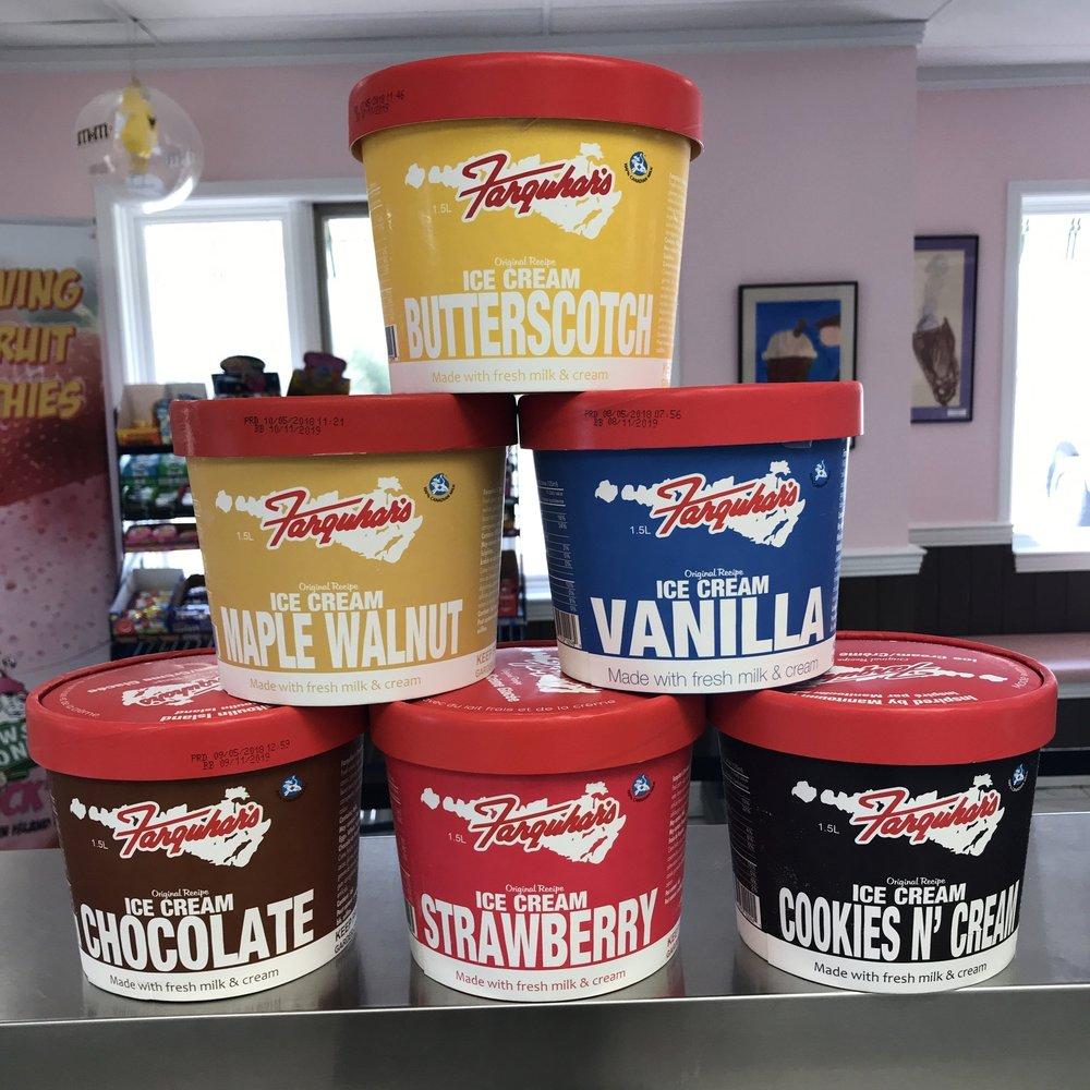 Farquhar's 1.5 litre ice cream (Photo:  3 Cows and a Cone )