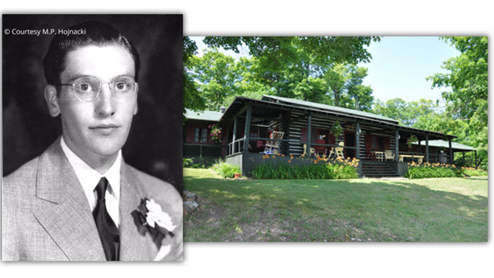 (left) Danny Dodge (Photo:  Find a Grave )  (right) The Dodge cottage, 2013 (Photo:  The Toronto Sun )