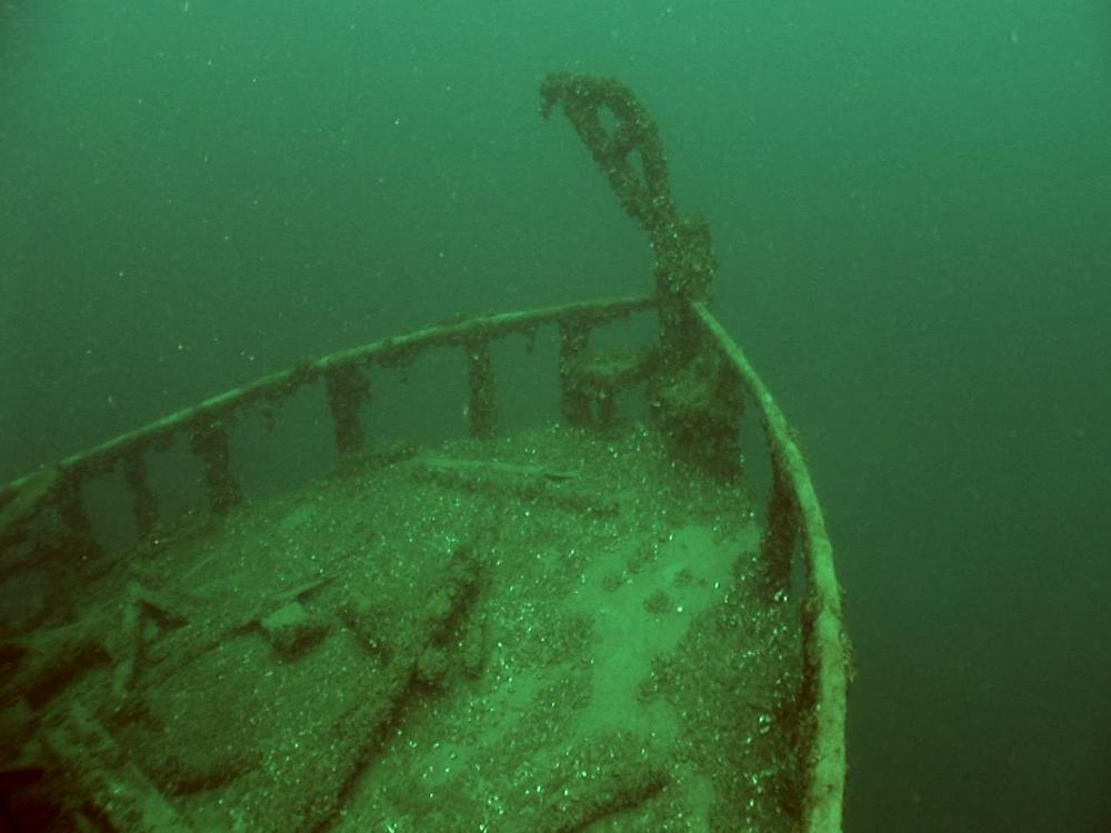 The sunken  Jane Miller  (Photo:  National Post )