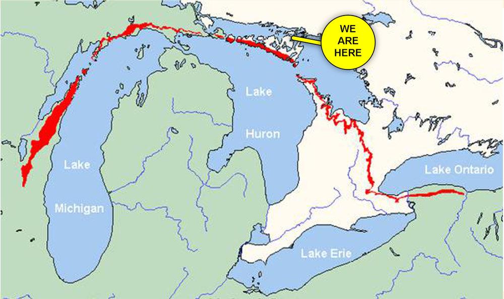 Map of Niagara Escarpment (Original Photo:  compressportnederland )