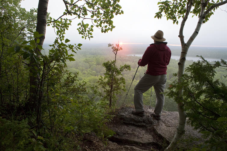 Red trail lookout point (Photo: featuring Steve Bruno;  Northeastern Ontario )